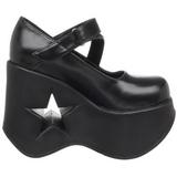 Negros 13,5 cm DYNAMITE-03 lolita zapatos góticos calzados con cuña alta