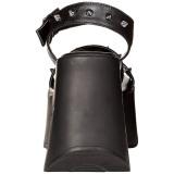 Negros 13 cm Demonia DYNAMITE-02 lolita zapatos sandalias con cuña alta