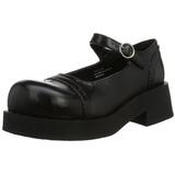 Negros 5 cm CRUX-07 lolita zapatos mujer calzados góticos suela gruesa