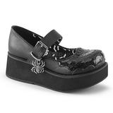 Negros 6 cm DEMONIA SPRITE-05 zapatos plataforma góticos