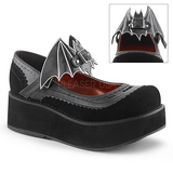 Negros 6 cm DEMONIA SPRITE-09 zapatos plataforma góticos