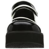 Negros 6 cm SPRITE-01 lolita zapatos calzados góticos suela gruesa