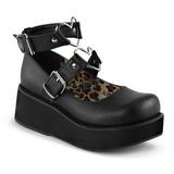 Negros 6 cm SPRITE-02 lolita zapatos góticos calzados con suela gruesa