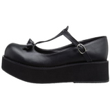 Negros 6 cm SPRITE-03 lolita zapatos góticos calzados con suela gruesa