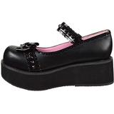 Negros 6 cm SPRITE-04 lolita zapatos góticos calzados con suela gruesa