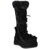 Negros 7 cm CUBBY-311 lolita botas góticos botas con suela gruesa