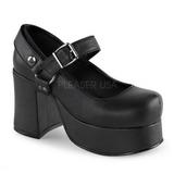 Negros 9,5 cm ABBEY-02 lolita zapatos g�ticos calzados con suela gruesa