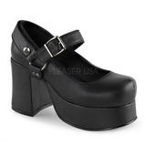Negros 9,5 cm ABBEY-02 lolita zapatos góticos calzados con suela gruesa