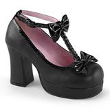 Negros 9,5 cm GOTHIKA-04 lolita zapatos g�ticos punk calzados con suela gruesa