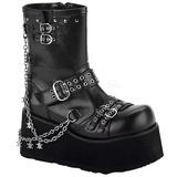 Negros 9 cm CLASH-430 lolita botines góticos botines con suela gruesa