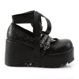 Negros 9 cm DEMONIA SCENE-20 zapatos plataforma góticos