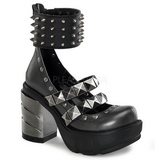 Negros 9 cm SINISTER-62 lolita zapatos mujer calzados góticos suela gruesa