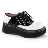 Negros Blanco 5 cm EMILY-303 zapatos goticos calzados suela gruesa