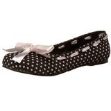 Negros DAISY-20 góticos zapatos de bailarina planos tacón