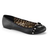 Negros Mate STAR-21 góticos zapatos de bailarina planos tacón