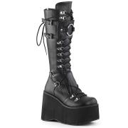 Negros vegano 11,5 cm Demonia KERA-200 botas plataforma góticos