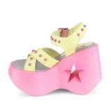 Neon 13 cm Demonia DYNAMITE-02 lolita zapatos sandalias con cuña alta