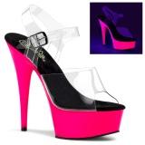 Neon 15 cm Pleaser DELIGHT-608UV Zapatos con tacones pole dance