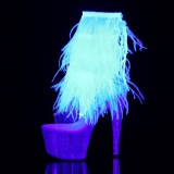 Neon 18 cm ADORE-1017MFF botines de pole dance con flecos