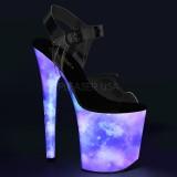 Neon 20 cm FLAMINGO-808REFL Zapatos con tacones pole dance