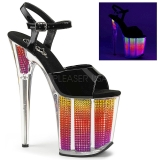 Neon 20 cm FLAMINGO-808SRS Sandalias Mujer Plataforma Strass