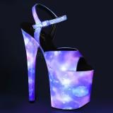 Neon 20 cm FLAMINGO-809REFL Zapatos con tacones pole dance