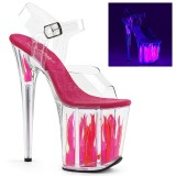 Neon 20 cm Pleaser FLAMINGO-808FLM Zapatos con tacones pole dance