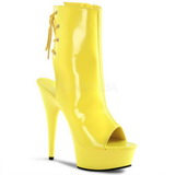 Neon Amarillo 16 cm Pleaser DELIGHT-1018UV Plataforma Botines Altos
