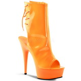 Neon Naranja 16 cm Pleaser DELIGHT-1018UV Plataforma Botines Altos