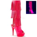 Neon Polipiel 15 cm DELIGHT-2019-3 botas con flecos de mujer tacon altos