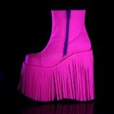 Neon Polipiel 18 cm SLAY-205 lolita botines plataforma