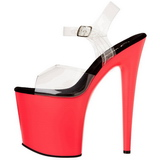 Neon Rosa 20 cm Pleaser FLAMINGO-808UV Tacones Altos Plataforma