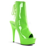 Neon Verde 16 cm Pleaser DELIGHT-1018UV Plataforma Botines Altos