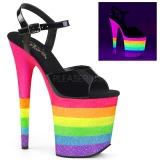 Neon arco iris 20 cm FLAMINGO-809UVRB Zapatos de pole dance