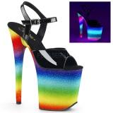 Neon arco iris 20 cm FLAMINGO-809WR Zapatos de pole dance