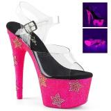 Neon piedra strass 18 cm ADORE-708STAR Zapatos con tacones pole dance