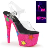 Neon purpurina 18 cm Pleaser ADORE-708STR Zapatos con tacones pole dance
