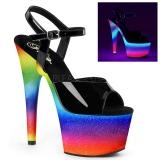Neon purpurina 18 cm Pleaser ADORE-709WR Zapatos con tacones pole dance