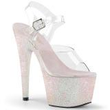 Ópalo purpurina 18 cm Pleaser ADORE-708HMG Zapatos con tacones pole dance