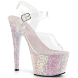 Ópalo purpurina 18 cm Pleaser ADORE-708LG Zapatos con tacones pole dance