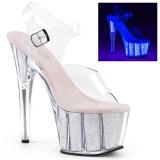 Ópalo purpurina 18 cm Pleaser ADORE-708UVG Zapatos con tacones pole dance