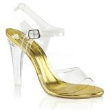 Oro 11,5 cm CLEARLY-408 Sandalias de tacón para fiesta