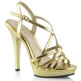 Oro 13 cm Fabulicious LIP-113 sandalias de tacón alto