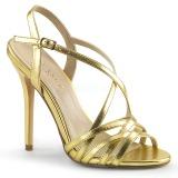 Oro 13 cm Pleaser AMUSE-13 sandalias de tacón alto