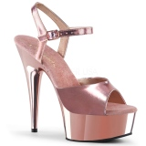 Oro 15 cm DELIGHT-609 tacones altos pleaser con plataforma