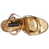 Oro 15 cm DOMINA-108 zapatos fetiche con tacones altos
