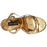 Oro 15 cm Devious DOMINA-108 sandalias de tacón alto