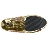 Oro 18 cm ADORE-1008SQ botines con lentejuelas de mujer
