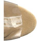 Oro 18 cm ADORE-1017RSFT botines con flecos de mujer tacón altos