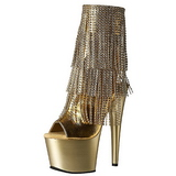 Oro 18 cm ADORE-1024RSF botines con flecos de mujer tacón altos
